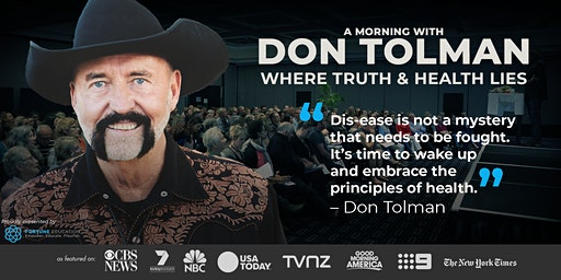 Don Tolman WHERE TRUTH & HEALTH LIES: Perth