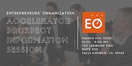 Entrepreneurs' Organization Accelerator Prospect Information Session tickets