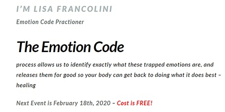 The Emotion Code: FREE Session to Get Out of The Pain tickets