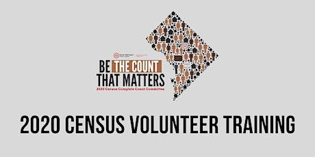GWUL Census Volunteer Training tickets