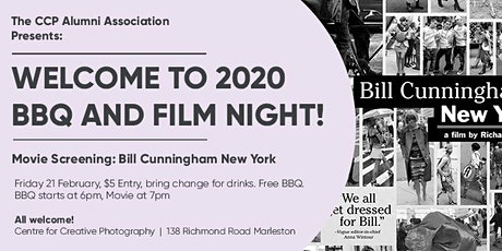 Welcome to 2020 Movie night and BBQ at the Centre for Creative Photography tickets
