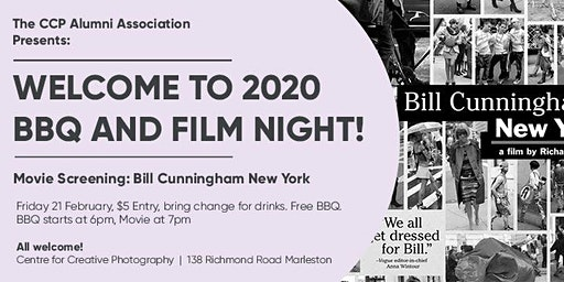 Welcome to 2020 Movie night and BBQ at the Centre for Creative Photography