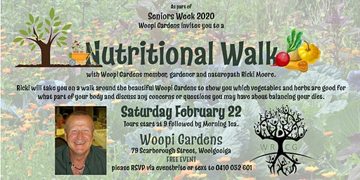 Nutritional Walk around Woopi Gardens