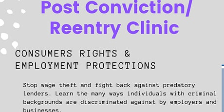 Post Conviction/ Reentry Clinic tickets