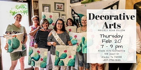 Decorative Arts: Prickly Pear Pillow tickets