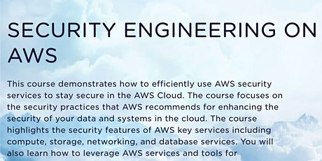 Security Engineering on AWS tickets