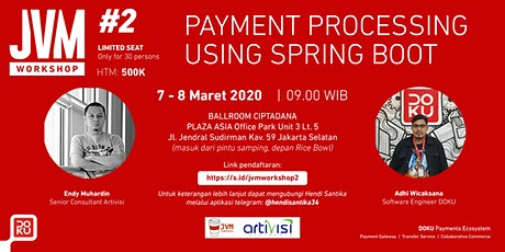 JVM Workshop #2 2020 with DOKU - Payment Processing using Spring Boot tickets