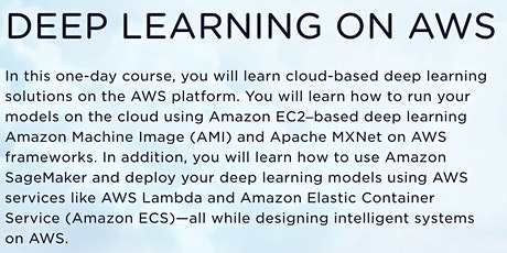 Deep Learning on AWS tickets