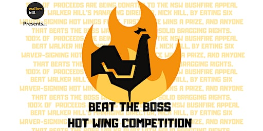 Beat the Boss Hot Wing Competition For the NSW Bush Fire Appeal