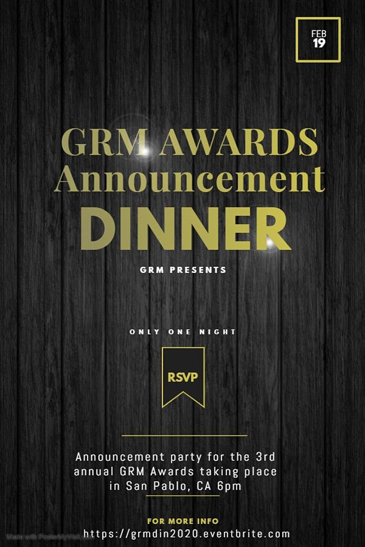 GRM Awards Announcement Dinner image
