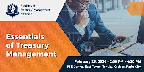 Essentials of Treasury Management tickets