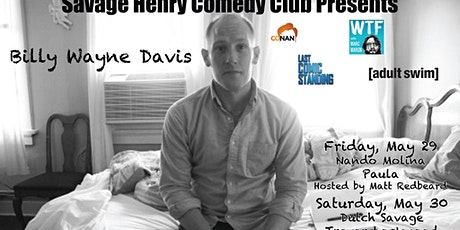 Billy Wayne Davis does a weekend at The Club tickets