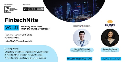FintechNite Vol.11: Growing you SME's with the right invesment