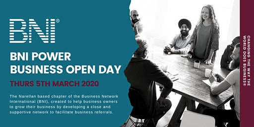 BNI Power Business Open Day - Thursday 5th March 2020