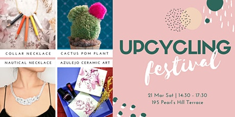 Upcycling Craft Festival: Session 1 Floral Azulejo & Cactus Pom Plant  tickets