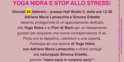 YOGA NIDRA E STOP ALLO STRESS @BODIO BREAK