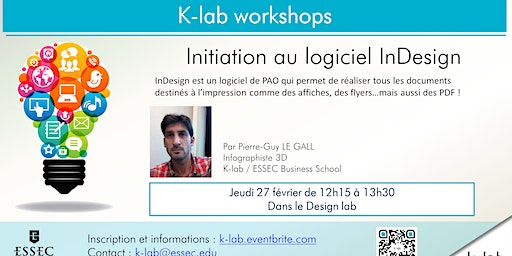 Les Ateliers du K-lab - Initiation au logiciel inDesign - Open Workshop