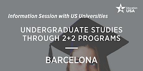 US Universities Visit & Undergraduate Studies through 2+2 Programs entradas