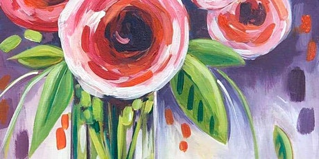 Paint & Sip Workshop, Date night, Freshly Picked Roses tickets