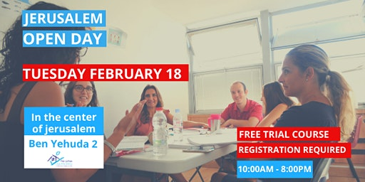 Open Day Ulpan Sheli Jerusalem - Tuesday February 18