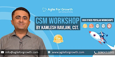 Certified ScrumMaster Training by Kamlesh Ravlani, CST, Feb, Pune.
