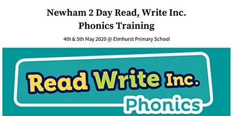 Newham 2 Day Read, Write Inc. Phonics Training 4th & 5th May 2020 tickets