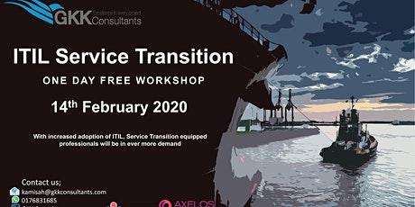 Complimentary 1 Day ITIL Service Transition Workshop tickets