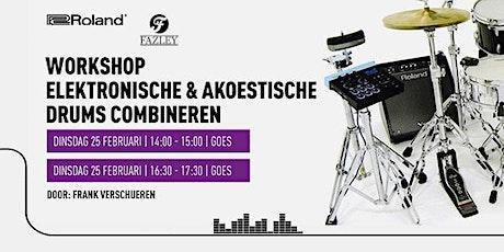Workshop Elektronische + Akoestische Drums combineren tickets