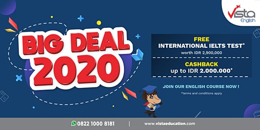 Big Deal 2020! Promo Les TOEFL/ IELTS dan General English-Surabaya