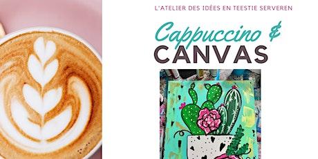 Cappuccino & Canvas - Fun art Workshop voor tieners  (14 -18jr) tickets