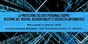 La Protezione dei dati personali (GDPR): gestione...