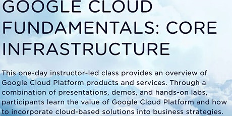 Google Cloud Fundamentals: Core Infrastructure tickets