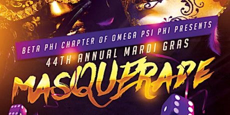 """44th Annual """"Star-Studded"""" Beta Phi Chapter Mardi Gras """"MasQUErade"""" Event tickets"""