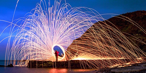 Steel Wool & Light Orb Photography Location Shoot