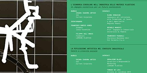L'ECONOMIA CIRCOLARE NELL'INDUSTRIA DELLE MATERIE PLASTICHE: UN IMPEGNO COLLETTIVO PER UN FUTURO SOSTENIBILE / Talk e visita in azienda con l'artista