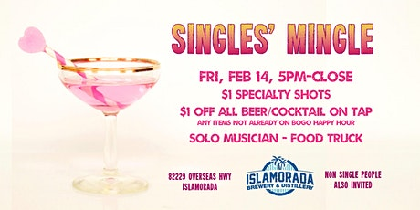 Singles' Mingle at Islamorada Brewery & Distillery tickets