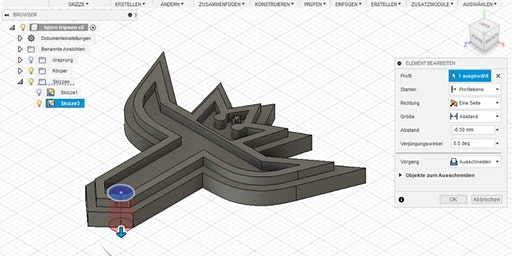 Workshop FabLab – Entwerfen mit Fusion360