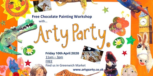 Easter Free chocolate painting workshop with Arty Party - 11am-11.45am