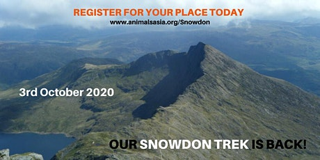 Trek Snowdon with Animals Asia tickets