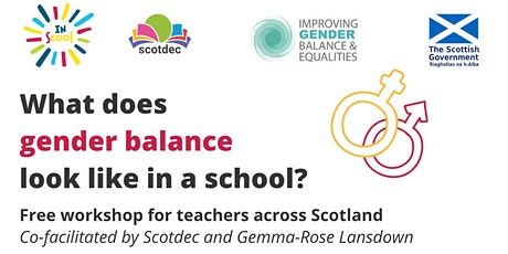 What does gender balance look like in a school? tickets