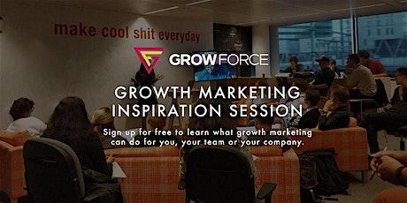 Growth Marketing Inspiratiesessie door GrowForce tickets