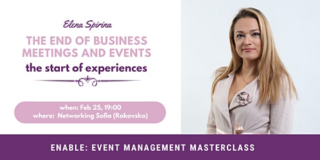 EnABLE: Event Management Masterclass feat Elena Spirina tickets