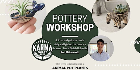 HANDBUILDING POTTERY - MAKE AN ANIMAL POT PLANT tickets