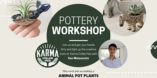 HANDBUILDING POTTERY - MAKE AN ANIMAL POT PLANT