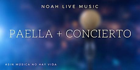 Paella y concierto Juanlu de la Rosa entradas
