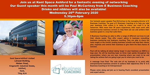 FREE Networking Kent Space Ashford - Wednesday 26th February 2020