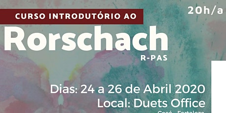 Curso Introdutório ao Rorscharch - R-PAS ingressos