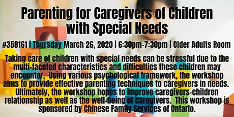 Parenting for Caregivers of Children with Special Needs  tickets