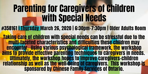 Parenting for Caregivers of Children with Special Needs