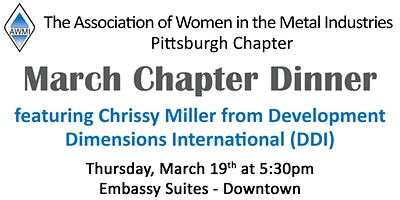 AWMI Pittsburgh Chapter - March Dinner Meeting
